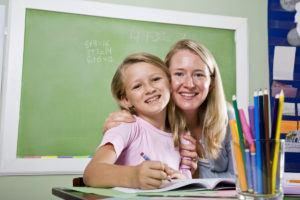 lærer og elev- jente